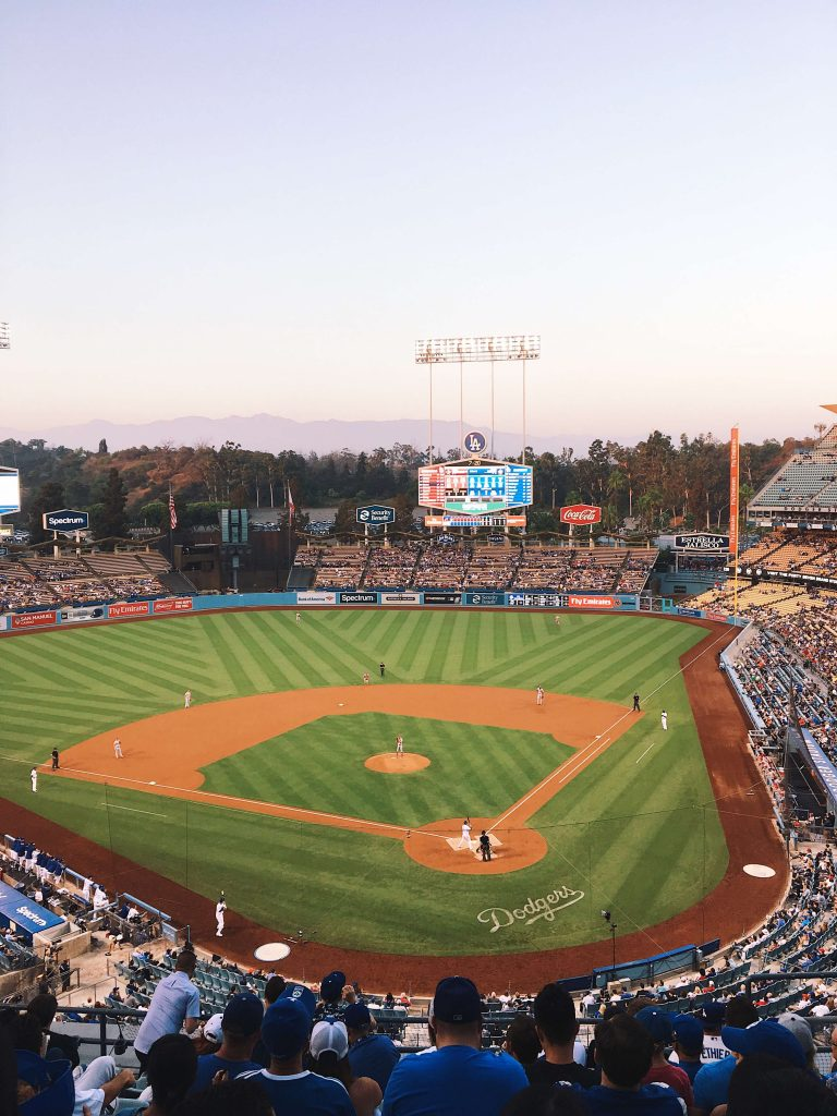 LA dodgers baseball game