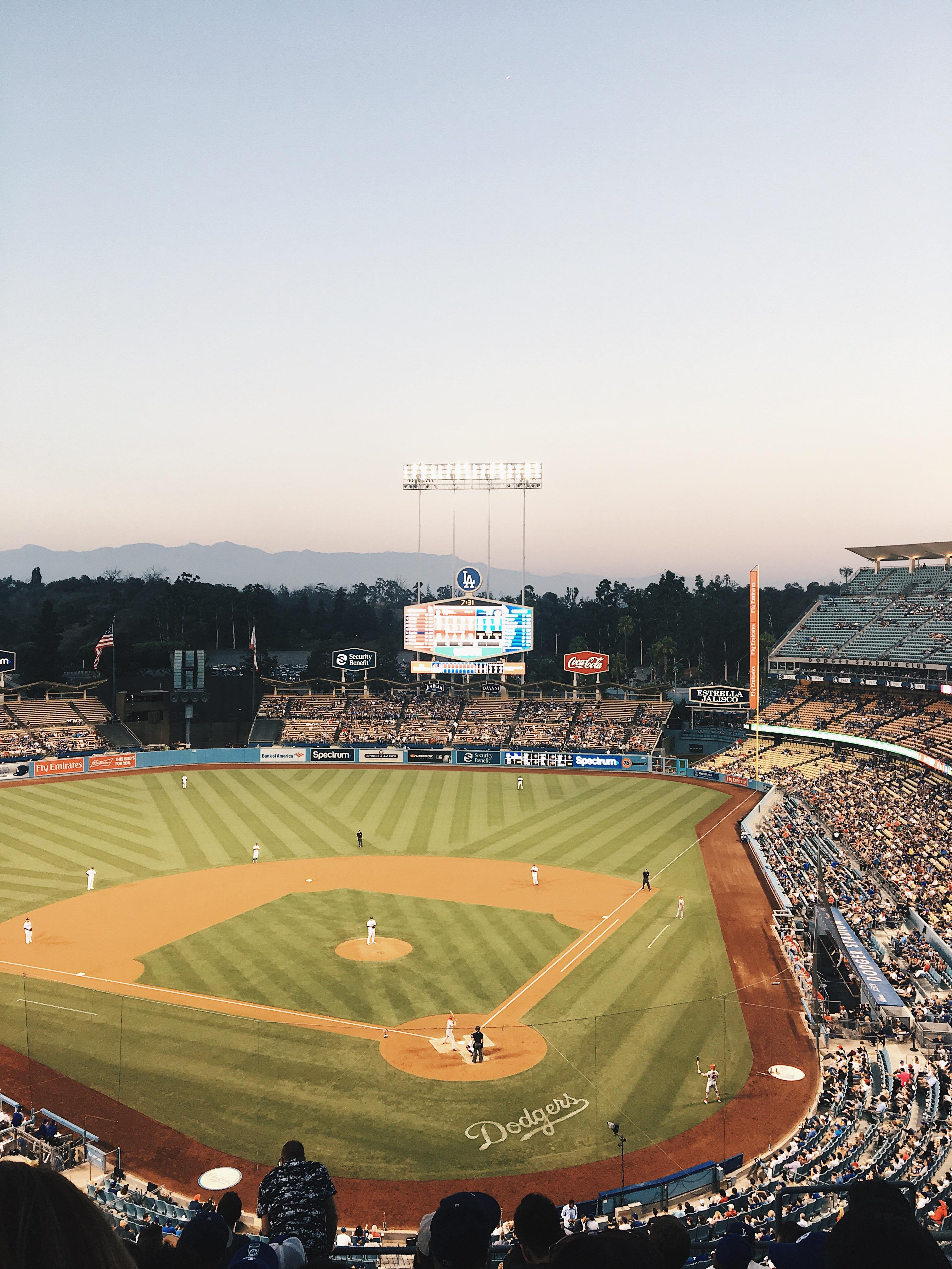 Baseball game dodgers