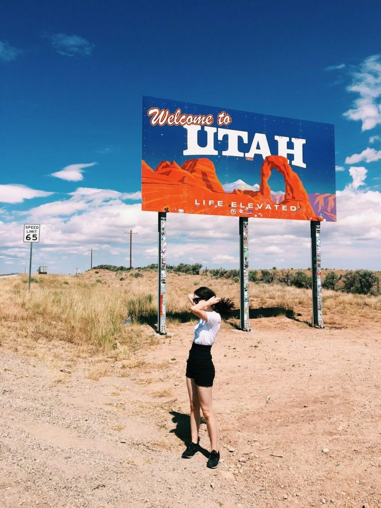 Utah welcome sign location
