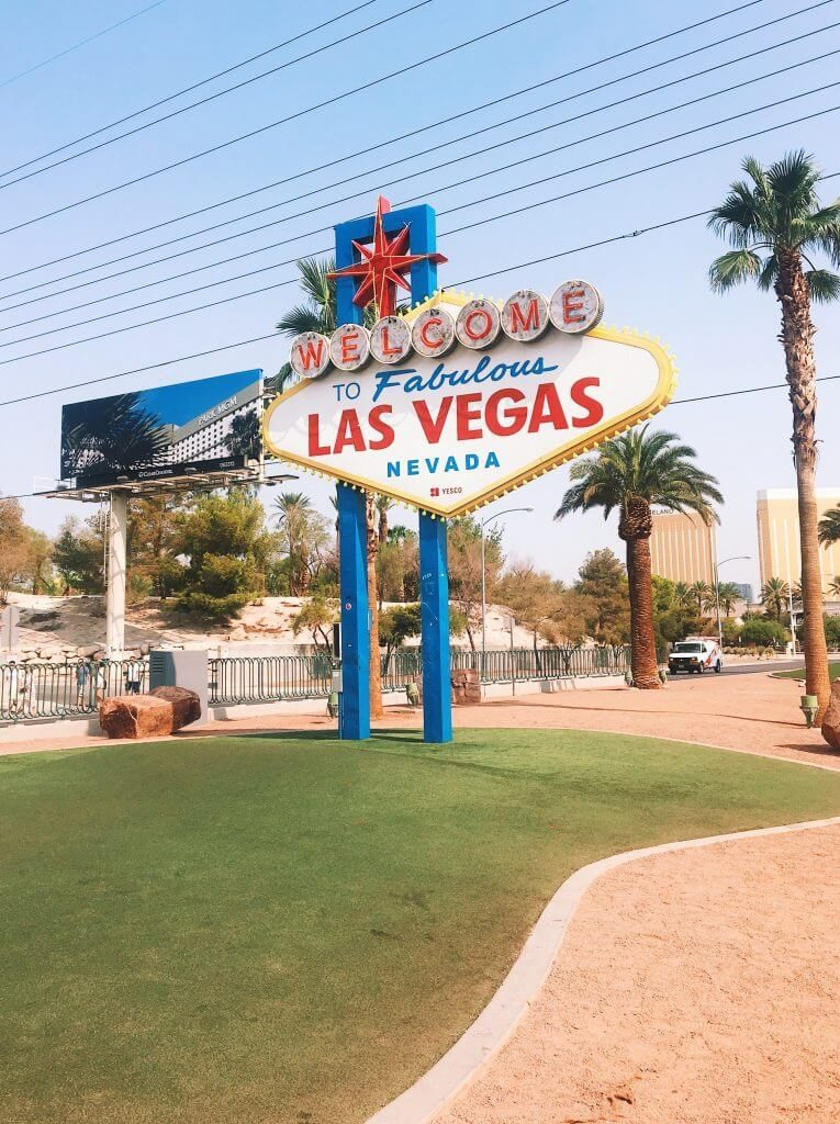 las vegas welcome sign, usa roadtrip