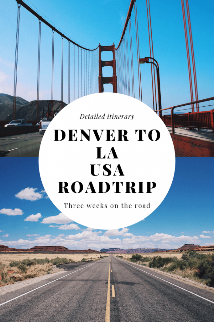 denver to la roadtrip usa itinerary