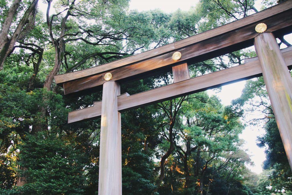 entrance meiji shrine tokyo