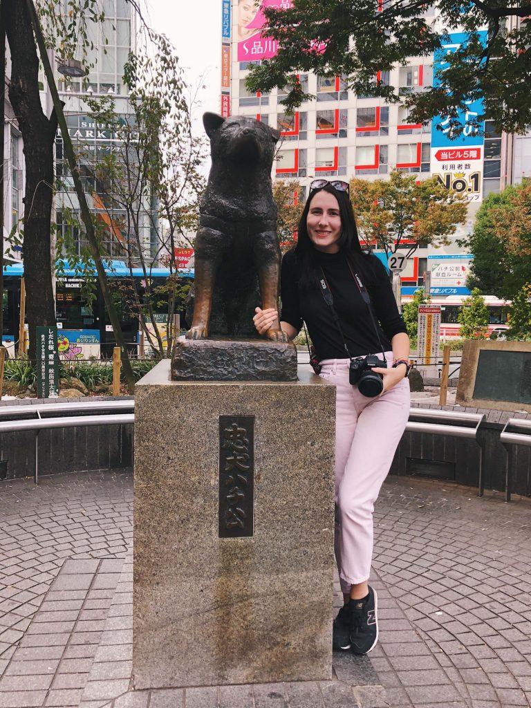 shibuya hachiko statue, 6 days in Tokyo