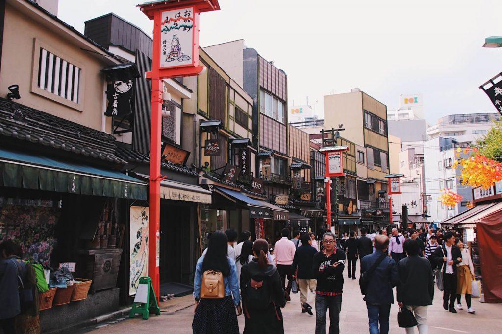asakusa street in Tokyo