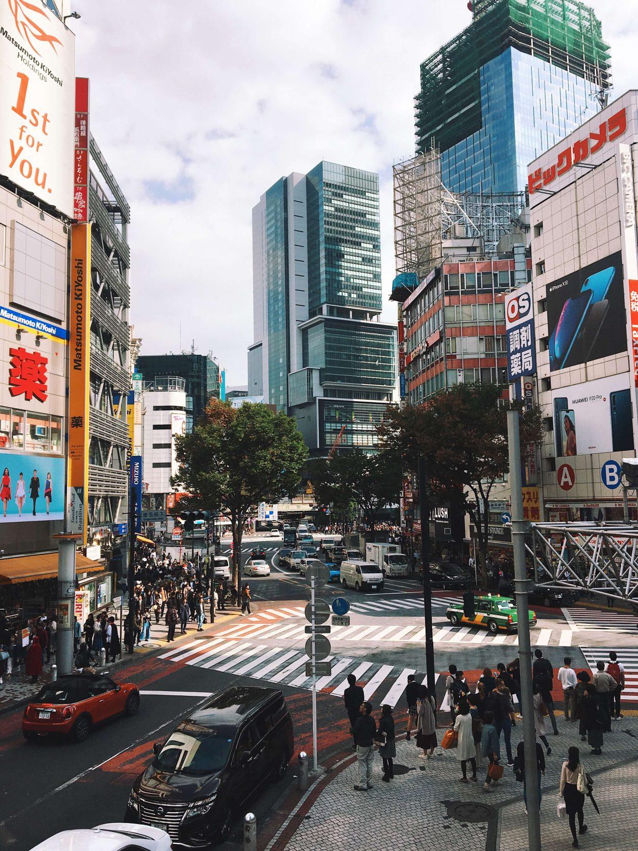 shibuya tokyo japan two week tinerary plan