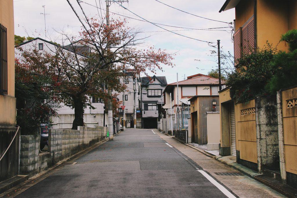 street in kyoto japan