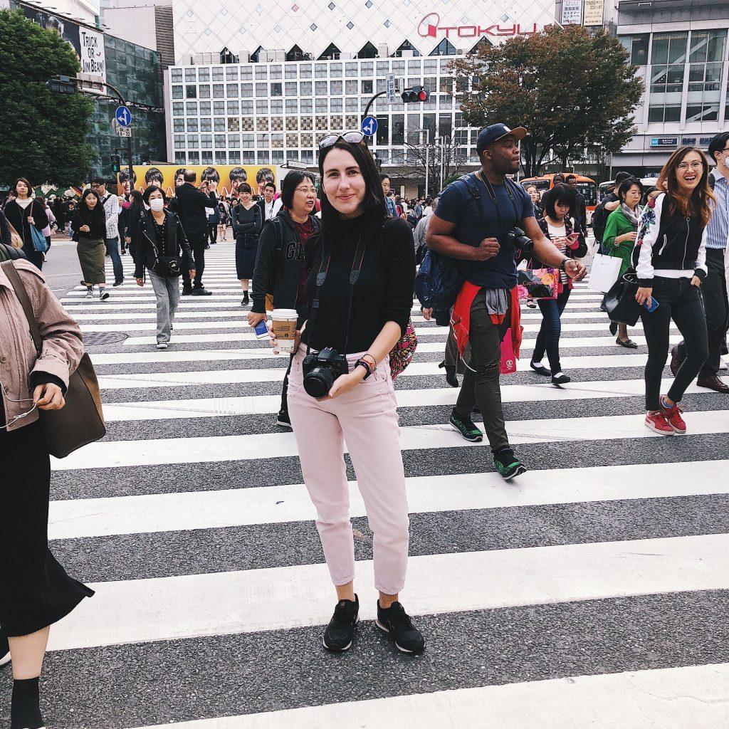 nele the navigatio on shibuya crossing tokyo