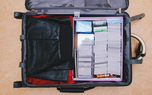 travelling with MTG cards