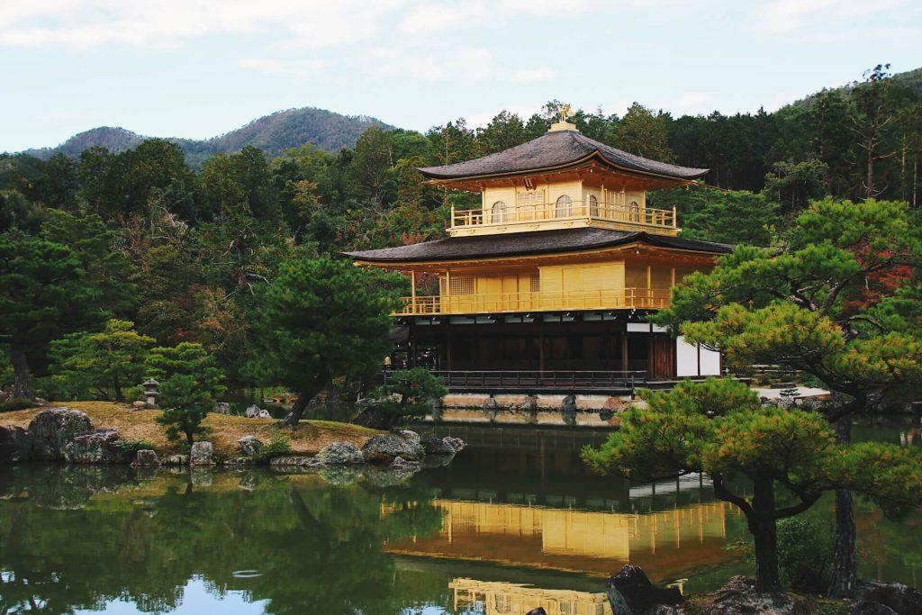 kinkaku-ji golden pavilion kyoto japan