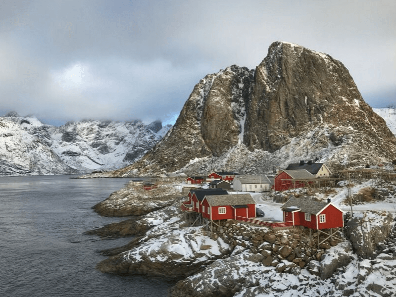 Lofoten Islands Norway Winter