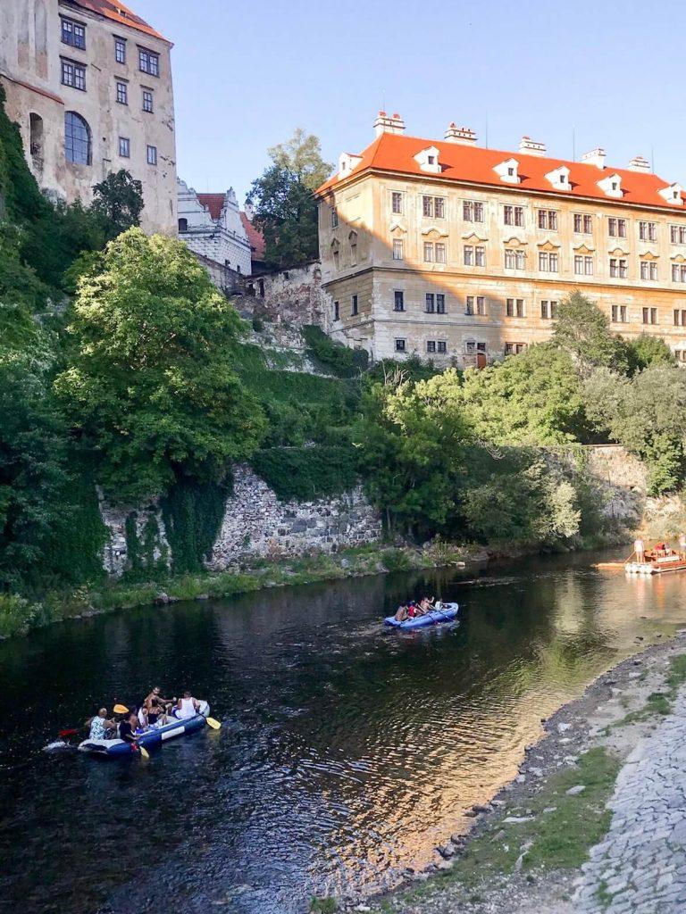 Canoe in Cesky Krumlov