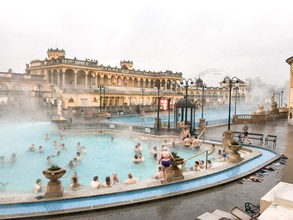 Budapest Thermal baths in winter