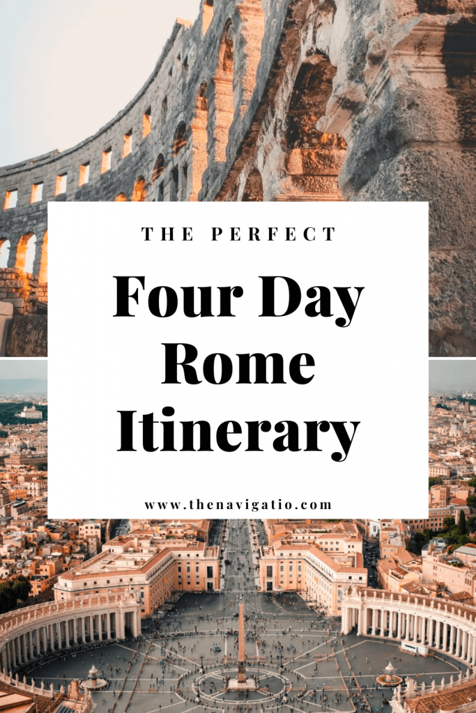 4 days in rome itinerary