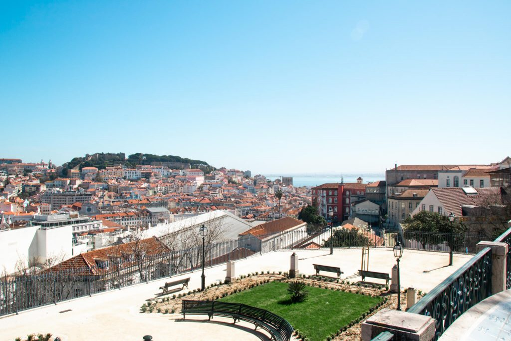 View at Miradouro de São Pedro de Alcântara