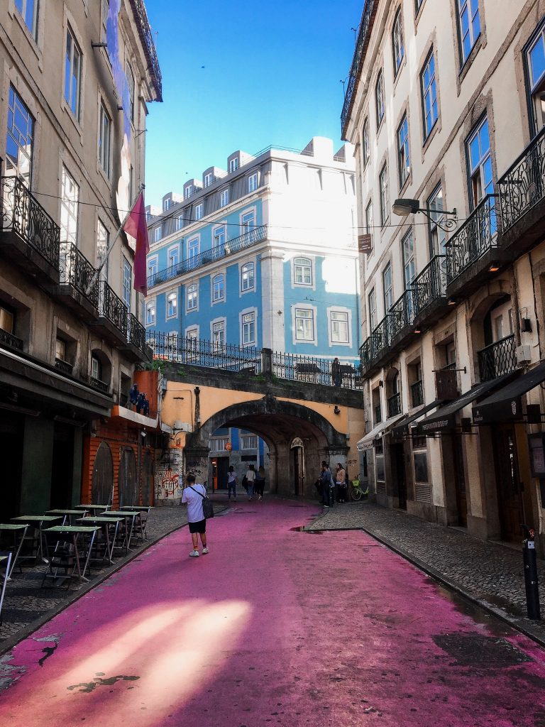 The pink street Lisbon