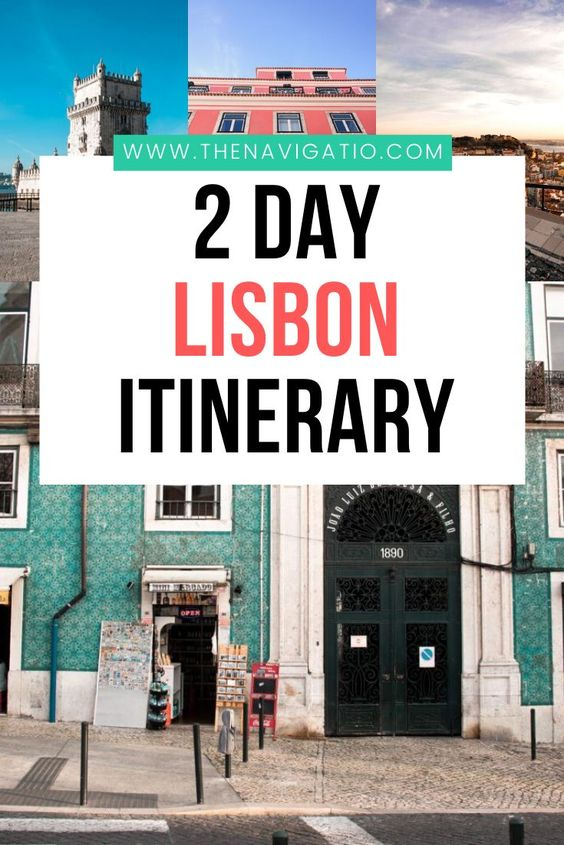 2 days in Lisbon itinerary pin
