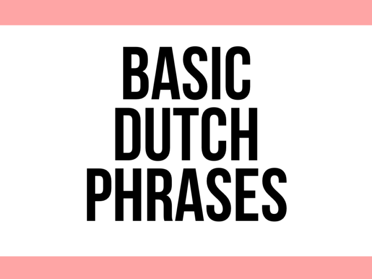 basic dutch phrases