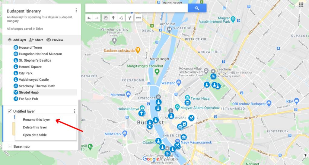 google maps road trip planner