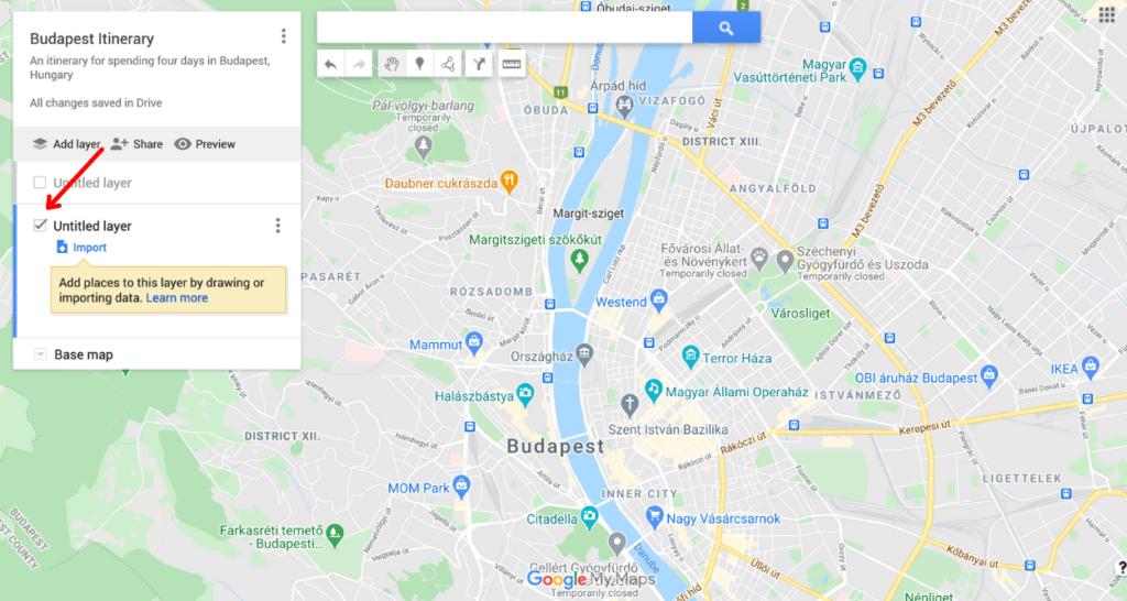 plan a trip with google