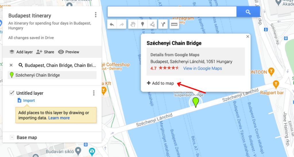 plan a trip with Google Maps