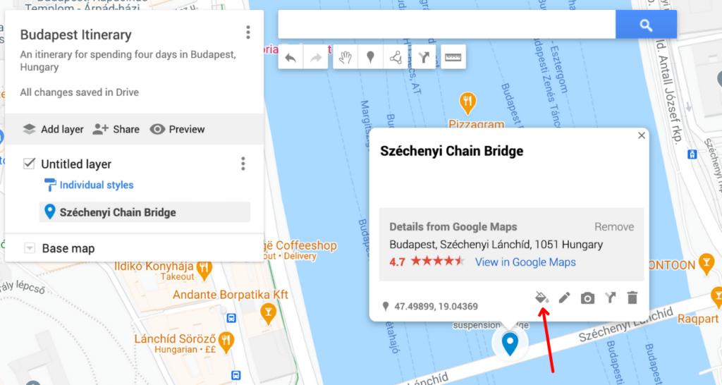 road trip on Google Maps
